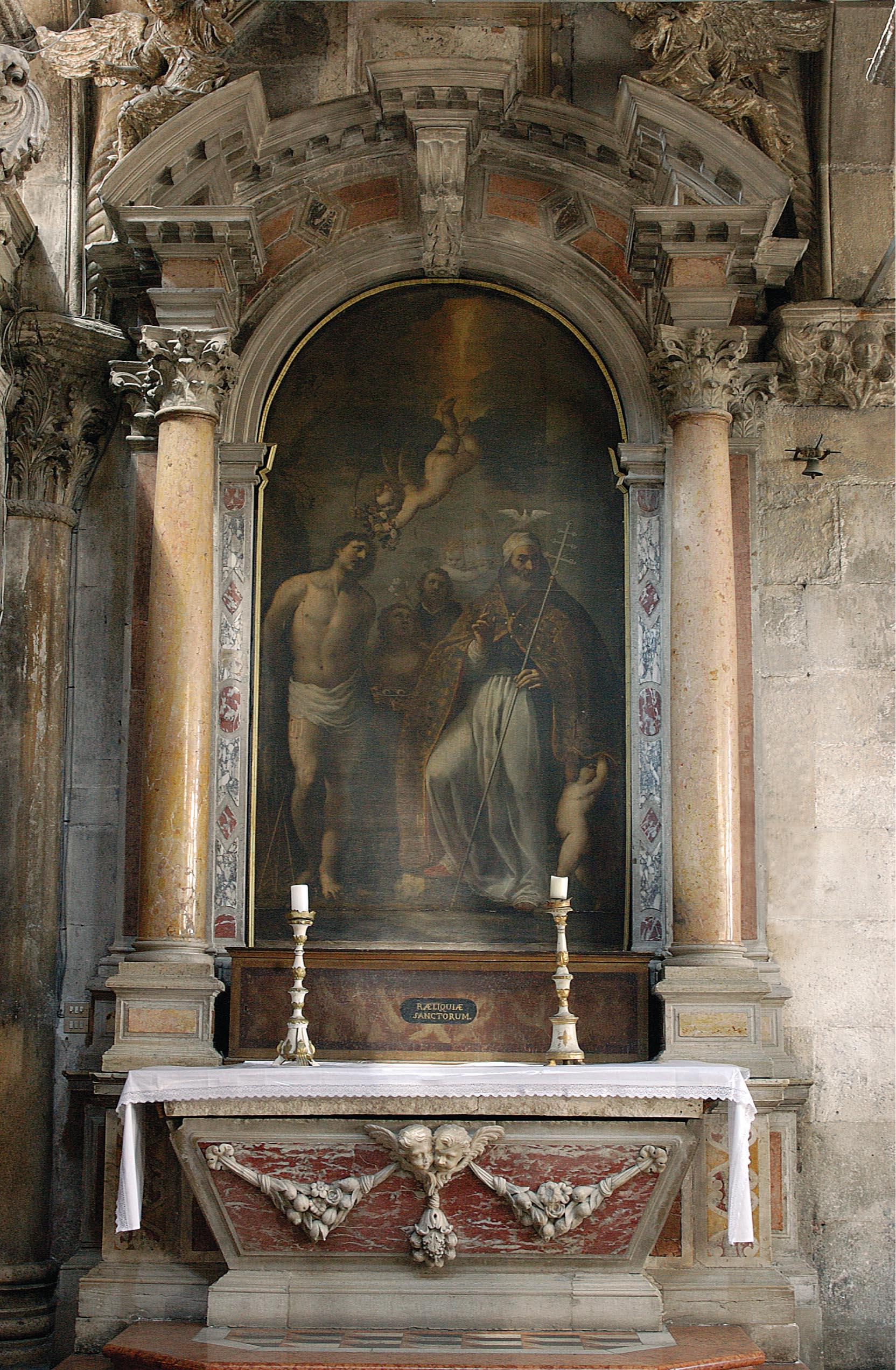 Oltar sv. Fabijana i sv. Sebastijana u katedrali svetog Jakova