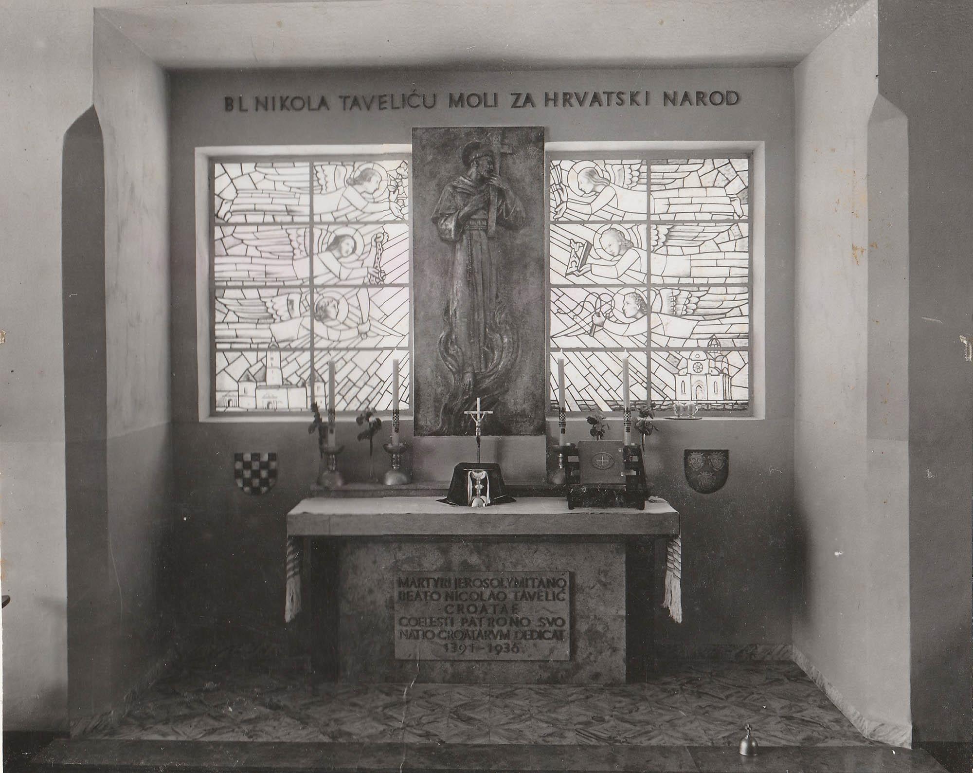 Posveta oltara NikoleTavelića u Jeruzalemu 1937. godine. Pred ...